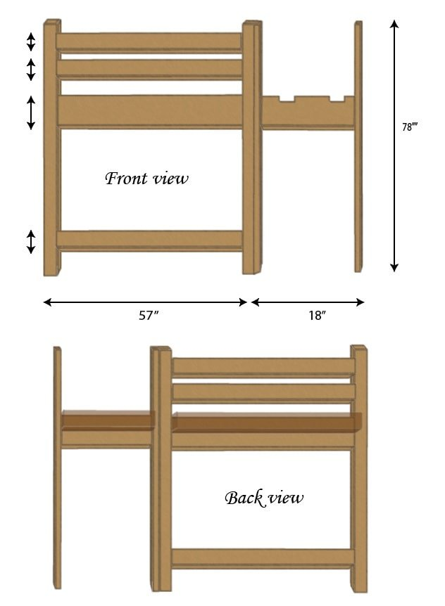 Loft Bed Short and Long Side Rails
