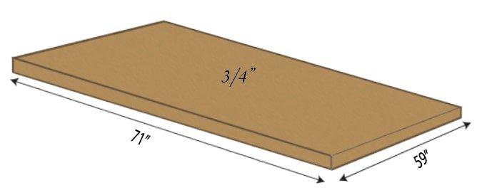 Loft Bed Slat Sheet