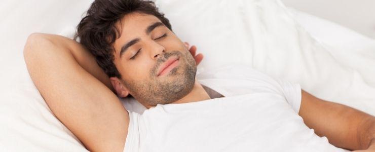 Man Sleeping Peacefully.