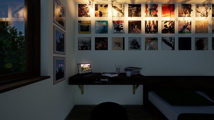 Vinyl Covers in Indie Bedroom