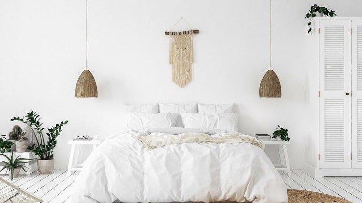 White Indie Bedroom