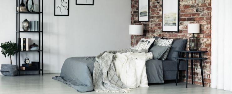 Bedroom Wall Opposite Bed Design.