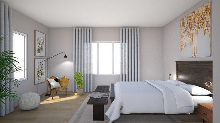 Blush Off White Bedroom Color