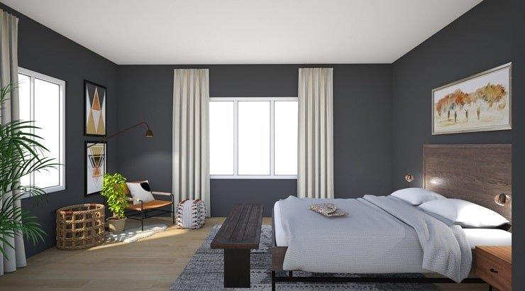 Charcoal Bedroom Color