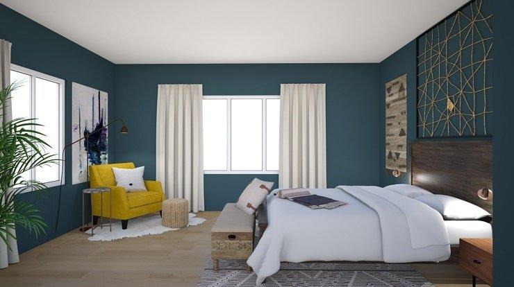 Deep Blue Bedroom Color