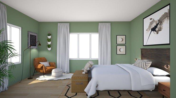 Deep Forest Green Bedroom Color