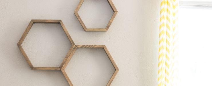 Floating Hexagonal Shelves