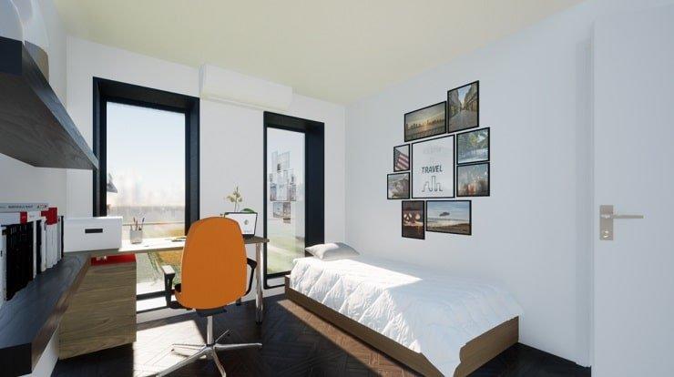 Minimalist Single Bedroom