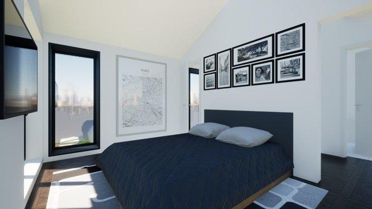 Monochromatic Couples Bedroom
