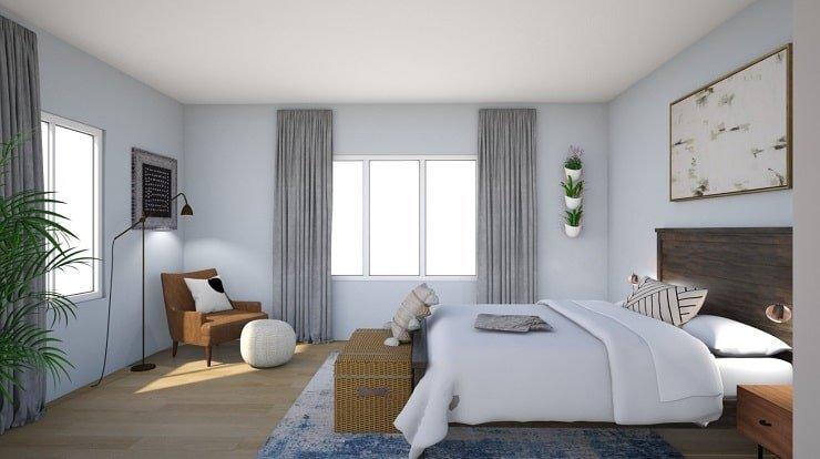 Powder Blue Bedroom Color