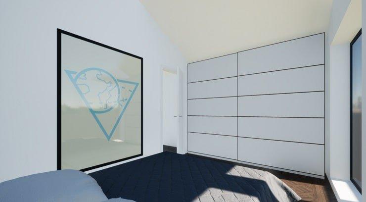 Ultra Minimalist Small Bedroom Design
