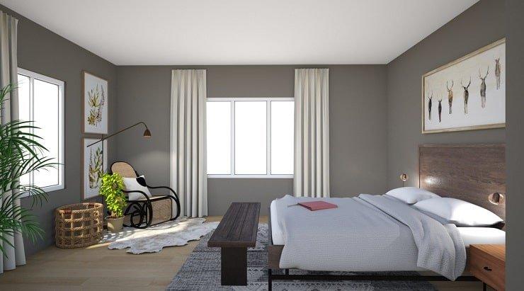 Warm Mocha Bedroom Color