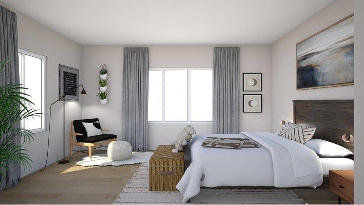 Warm White Bedroom Color