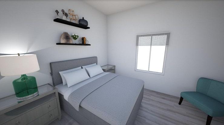 Shelves Above Bed