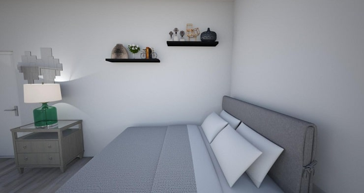 Shelves Next to Bed