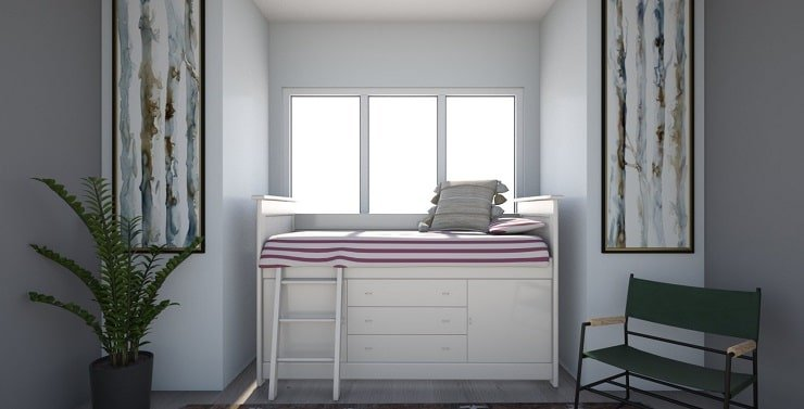 Small Bedroom With Bunk Bed