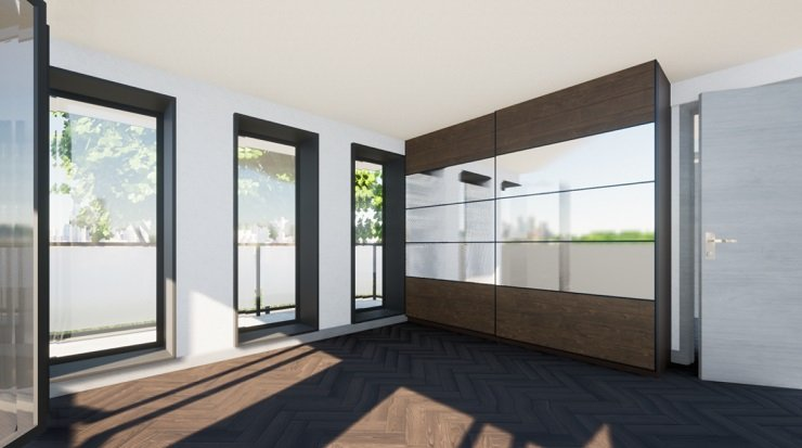 Small Bedroom With Floor to Ceiling Wardrobe