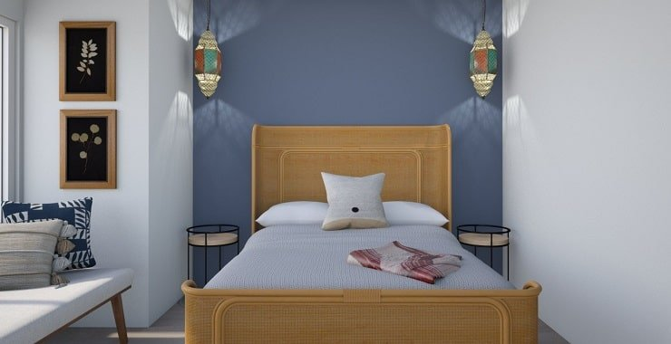 Small Bedroom With Headboard Focal Point