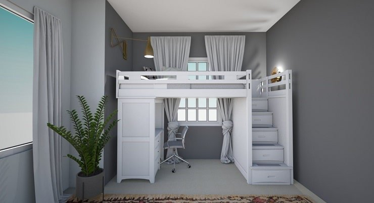 Small Bedroom With Loft Bed