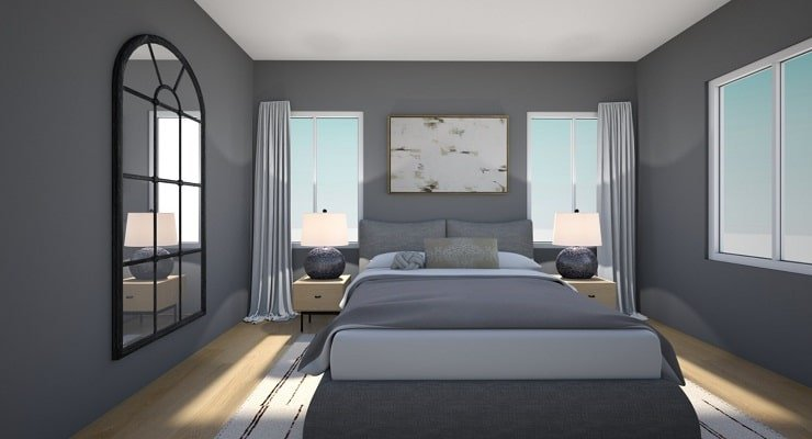 Small Bedroom With Rounded Shapes