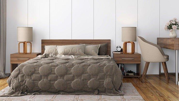 Three Tone Small Bedroom Design