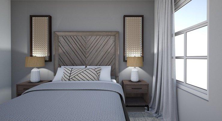 Bedroom With Deep Wood Tones