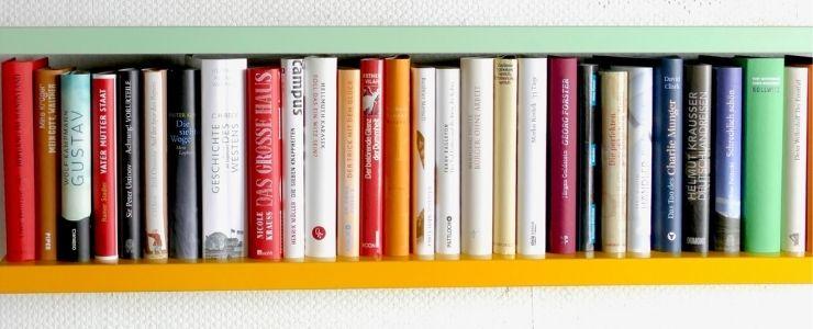Half Painted Bookshelves