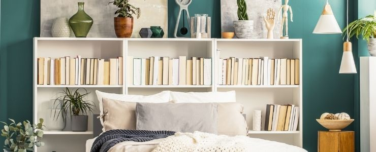 Repainted Bookshelves