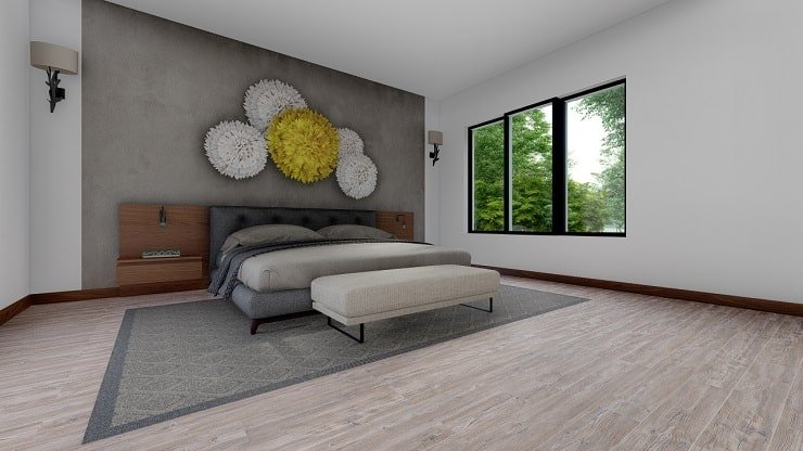 African Themed Bedroom With Juju Hats