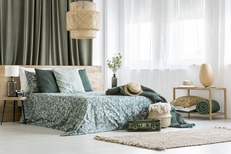 African Themed Bedroom With Natural Materials