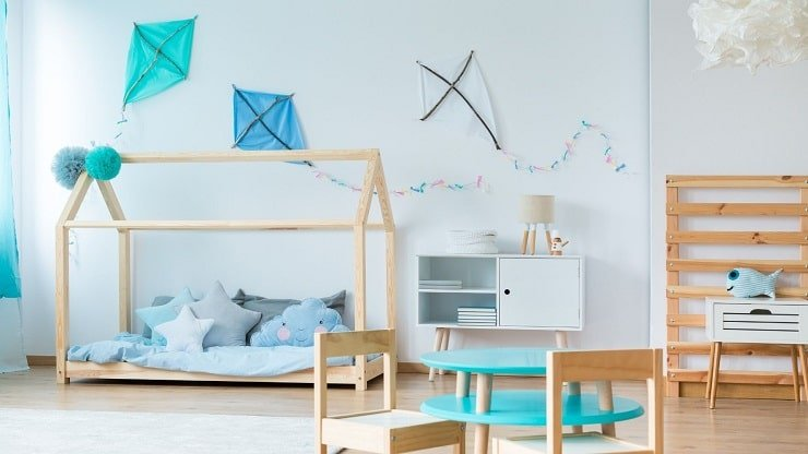 Child's Small Bedroom With Accent Decor