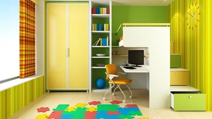 Child's Small Bedroom With Adaptive Storage