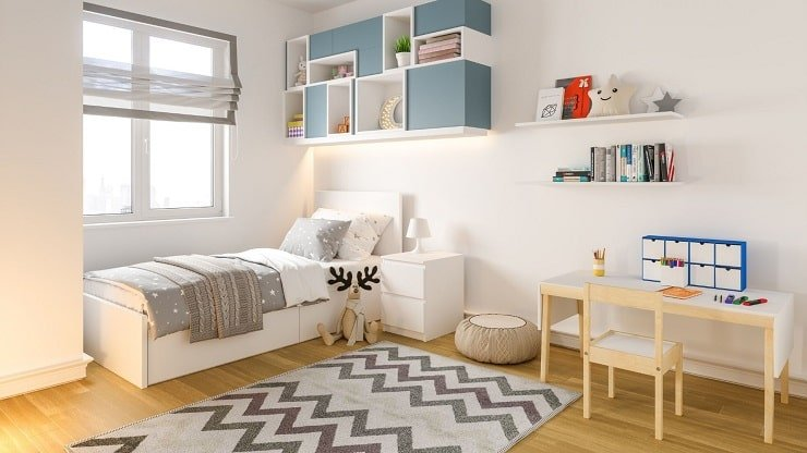 Minimalist Furniture Theme for Kid's Small Bedroom