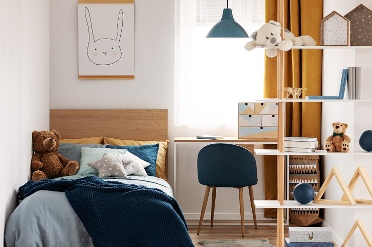 10 Year Old Girl's Bedroom With Minimal Animal Decor