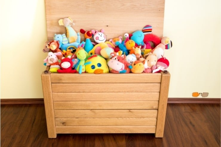Boy's Small Bedroom With Toy Box