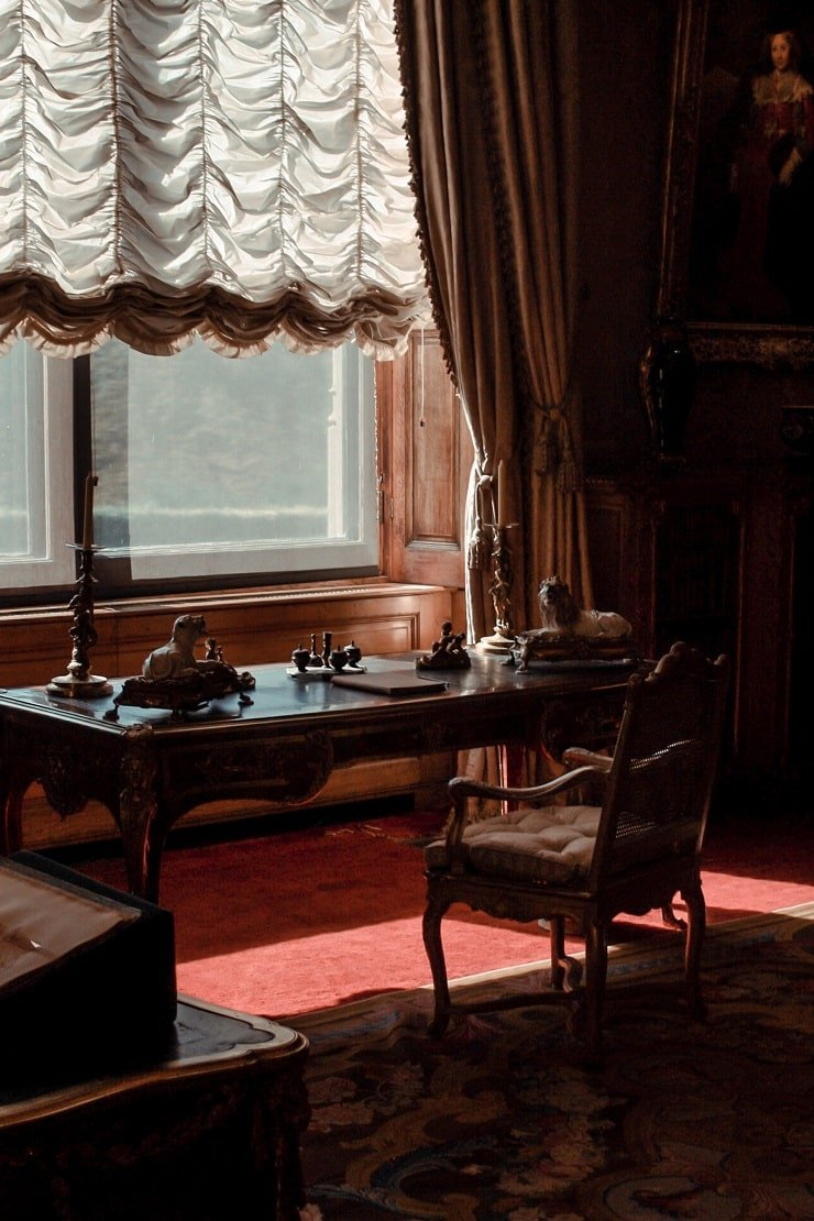 Dark Academia Bedroom With Desk