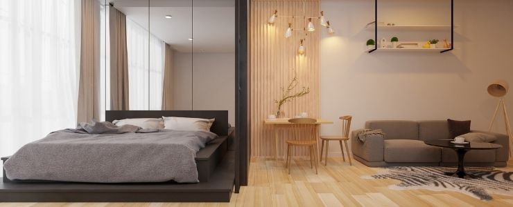 Small Bedroom Living Room Combo.