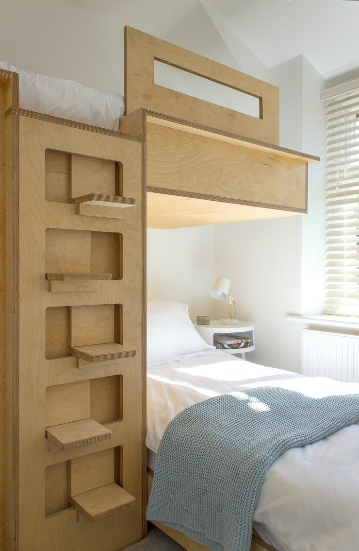 Very Small Attic Bedroom With Loft Bed